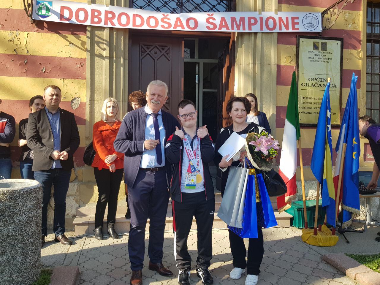 Organizovan doček za gračaničkog šampiona Hasana Sejdinovića