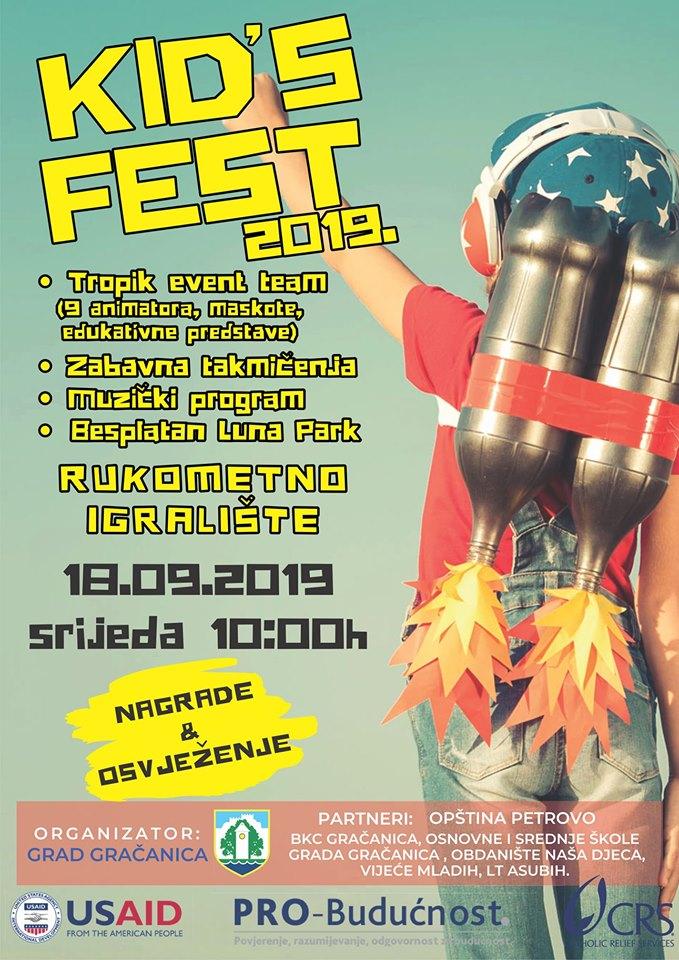 Najava događaja: Kid's fest Gračanica 2019